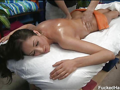 These 3 angels screwed hard by their massage therapist after getting a soothing rubdown