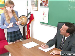 Wicked schoolgirl does her superlatively worthwhile to please a large older pecker