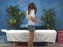 Hawt 18 year old gal acquires drilled hard from behind by her massage therapist