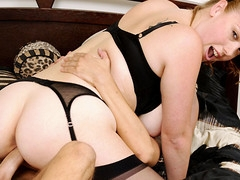 Breasty sweetheart brings her recent sexually excited fuckfriend to her place...!
